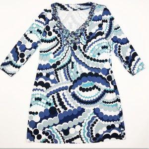 Boden Dresses - Boden jeweled necklace Vneck shift dress size 8
